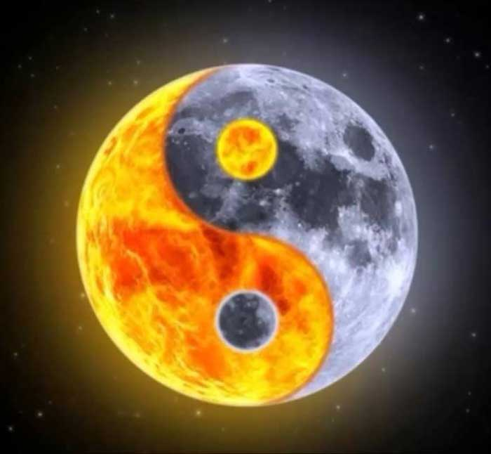 yin yang amuleto